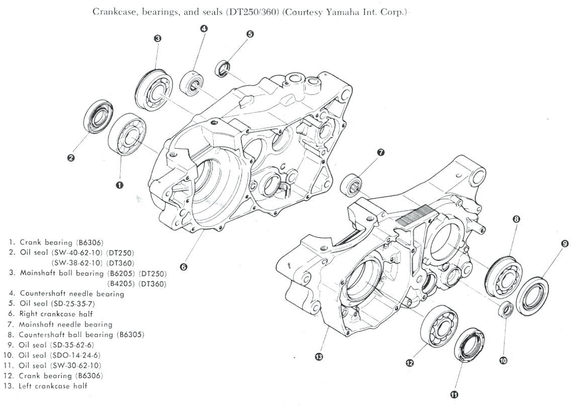 Yamaha Wiring Schematics & Carburetor Diagrams   Dt360 Wiring Diagram      www.slimduck.com